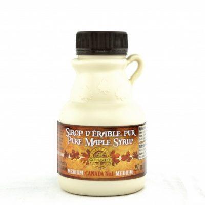 ピュアメープルシロップ  250 ml- カナダ A-アンバー、豊かな味わい - プラスティックボトル入り