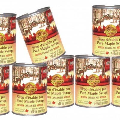 メープルシロップ メタル缶入り、 8x 540ml アンバーは、リッチは、カナダ