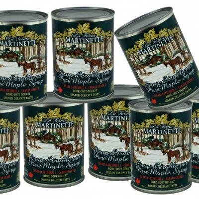 ピュアメープルシロップCANADA A-ゴールデン、繊細な味 8X540ml メタル缶入り