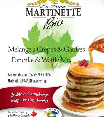 オーガニックパンケーキクランベリーズ – メープル500グラム