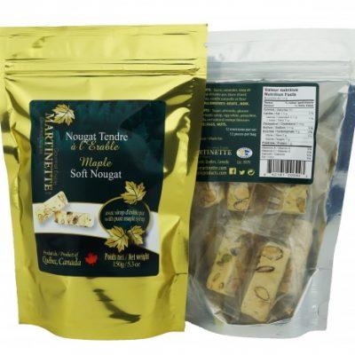 ソフトヌガーメープル150グラム – 袋に個