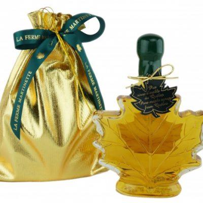 ピュアメープルは、CANADA-金色のシロップ繊細な250ミリリットルの葉を味わう – ゴールドバッグ