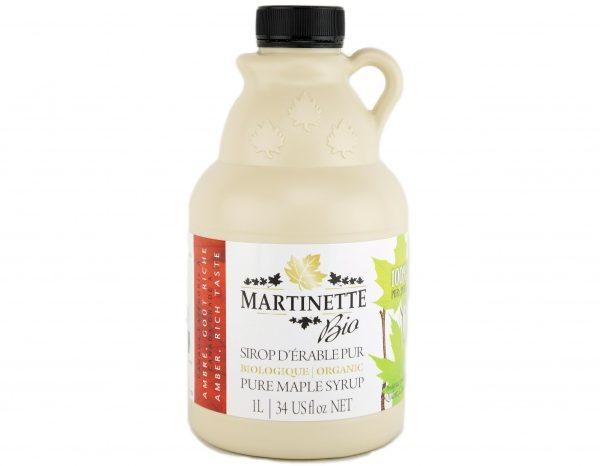 オーガニックメープルシロップアンバーを、豊かな味1L