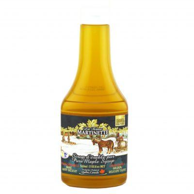 ピュアメープルシロップ500ミリリットル – ゴールデン繊細な味 – 圧縮性ボトル