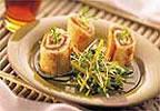 Tortillas roulées au saumon fumé et à l'érable