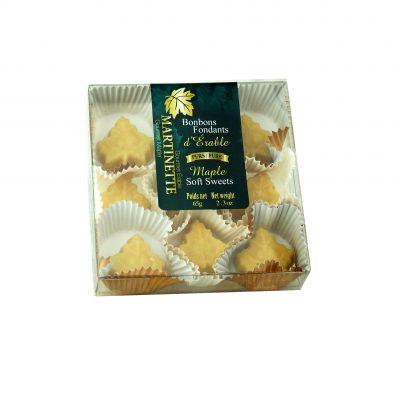ピュアメープルキャンディボックス9mcx(65 g / 2.3 oz)メープルリーフシェイプ