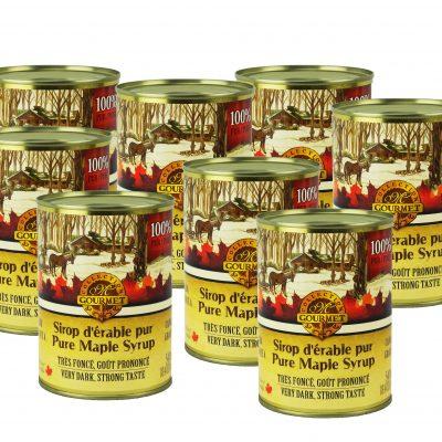 ピュアカナダメープルシロップA-ベリーダーク、顕著な味8X540ml