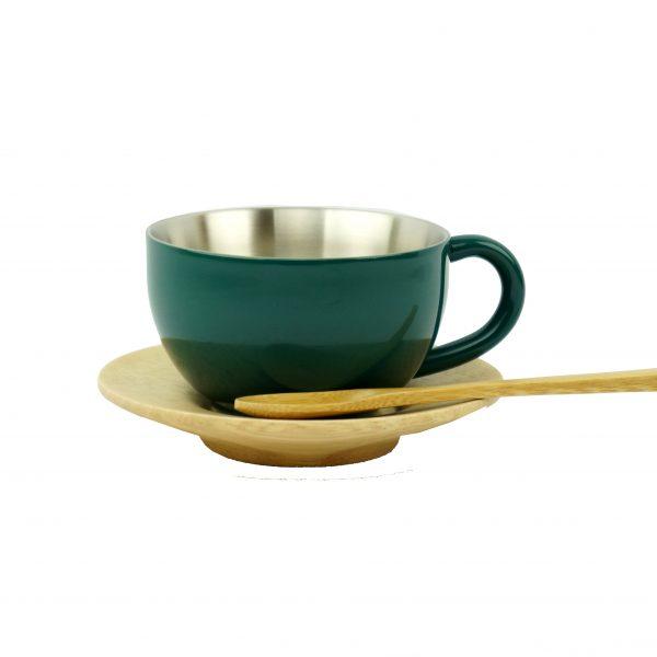 ティーカップ-ダークグリーン