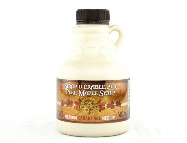 ピュアメープルシロップ500 ml カナダA – アンバー、リッチテイスト – クルーチョン