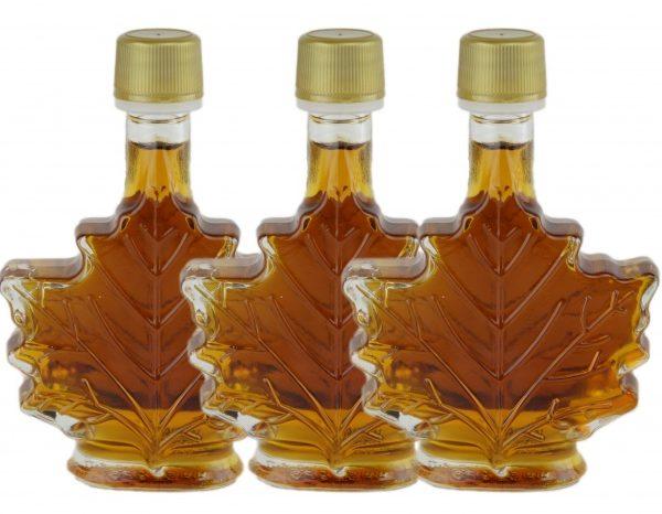 ピュアメープルシロップ3x50ml – カナダアンバー、豊かな味わい – シートガラスびん
