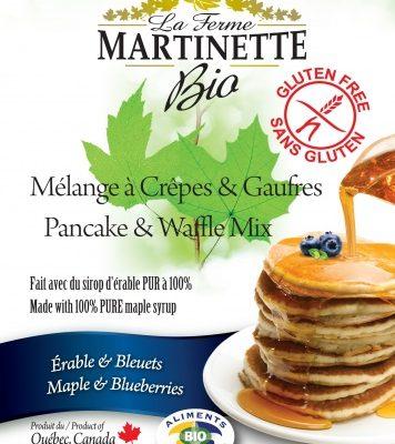 グルテンフリーオーガニックメープル – ブルーベリーパンケーキ&ワッフルミックス250グラム