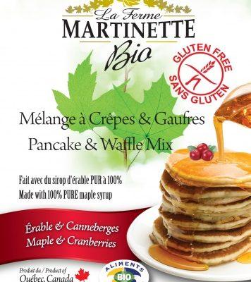 グルテンフリーオーガニックメープル – クランベリー250グラムパンケーキ&ワッフルミックス