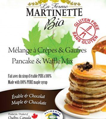 グルテンフリーオーガニックメープル – 250グラムチョコレートパンケーキ&ワッフルミックス