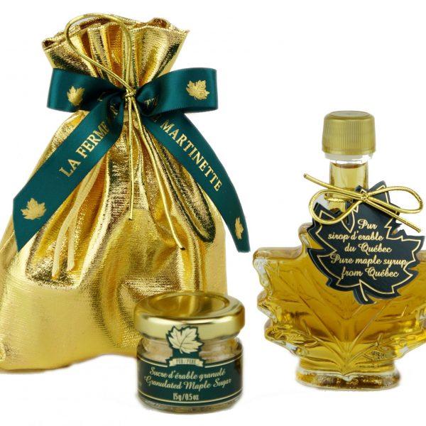 ピュアメープルシロップカナダ – 金ぴか、繊細な味50ミリリットル メープルリーフ – 包装