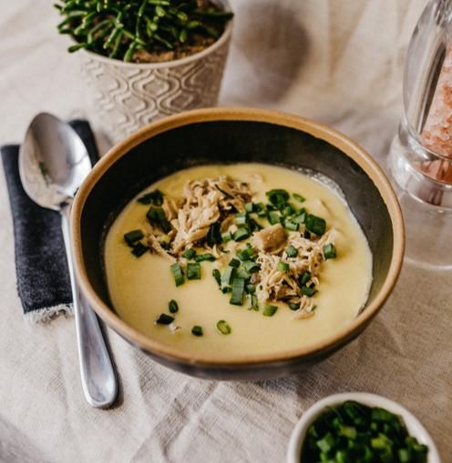 メープルシロップのほのかなルタバガスープ