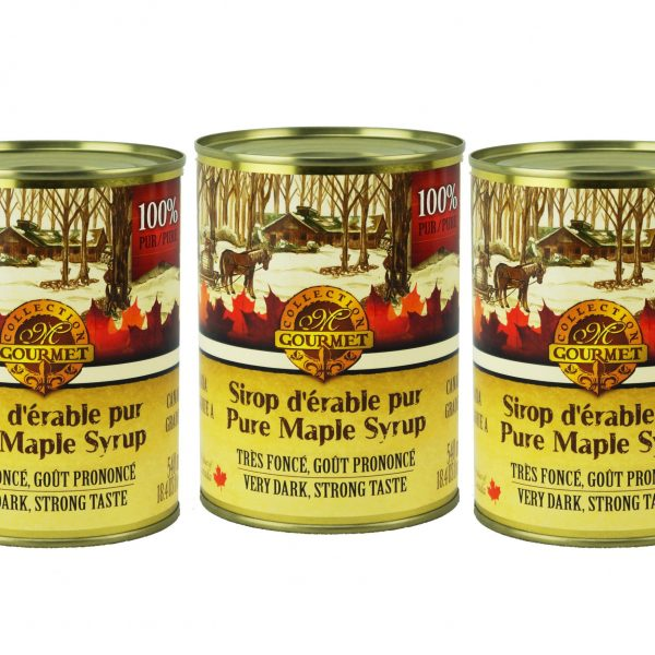 ピュアカナダメープルシロップA-ベリーダーク、顕著な味3X540ml