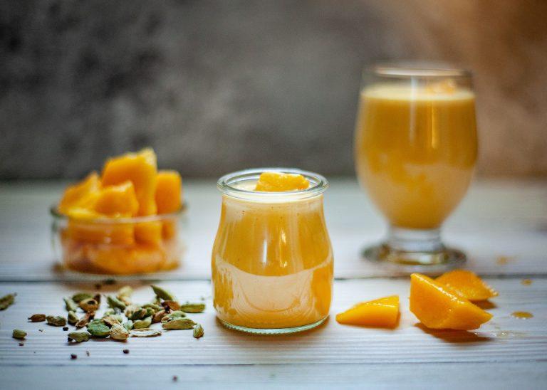 メープル風味のマンゴープリン(糖尿病)