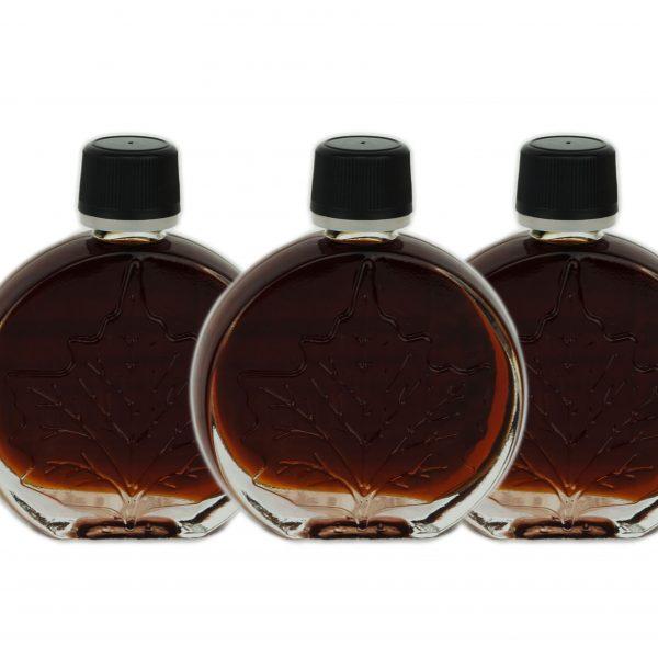 純粋なメープルシロップ-非常に暗い、強い味3x50ml O'CANADAメダリオン
